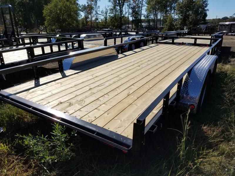 83x18 PJ Utility Trailer-Slide In Ramps