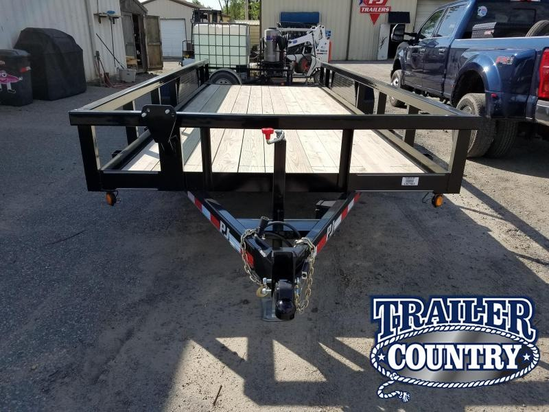 2019 PJ Trailers 20 FT ANGLE PIPETOP Equipment Trailer in Prattsville, AR