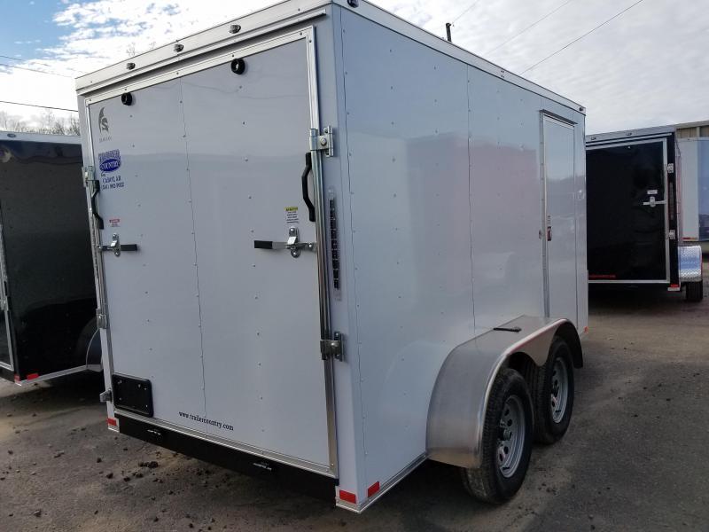 6x12 Tandem Axle Enclosed Cargo-3500lb axles Ramp Door V-Nose