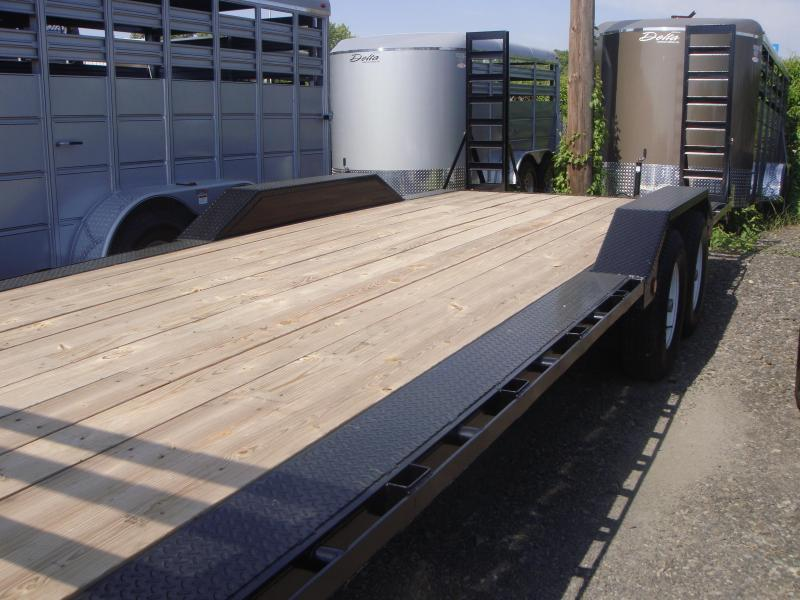 102x24 Gooseneck Superwide Equipment Trailer-Fold Up Ramps