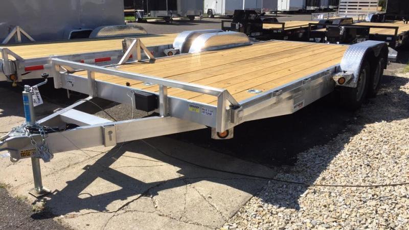 2019 Quality Steel and Aluminum 18 aluminum 7k gvwr Car / Racing Trailer