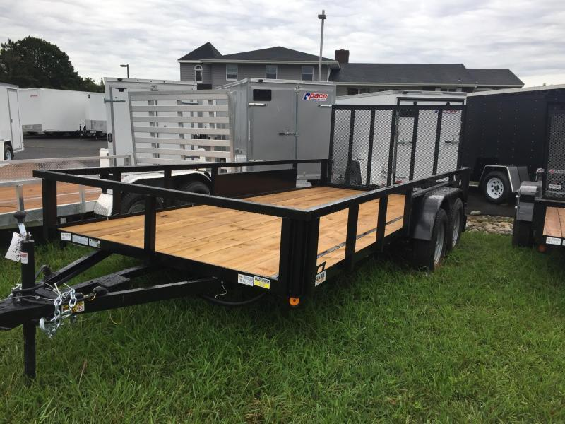 2019 Quality Steel and Aluminum 7x16 ta Utility Trailer