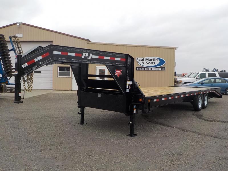 2019 PJ Trailers 28' Classic Flatdeck with Singles Flatbed Trailer