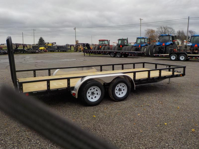 "2019 PJ Trailers 18'X83"" UL Tandem Axle Channel Utility Trailer"