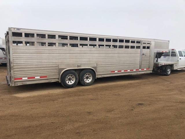 Used 2016 Eby 26' x 8' Ruff Neck Gooseneck Livestock Trailer  in SD