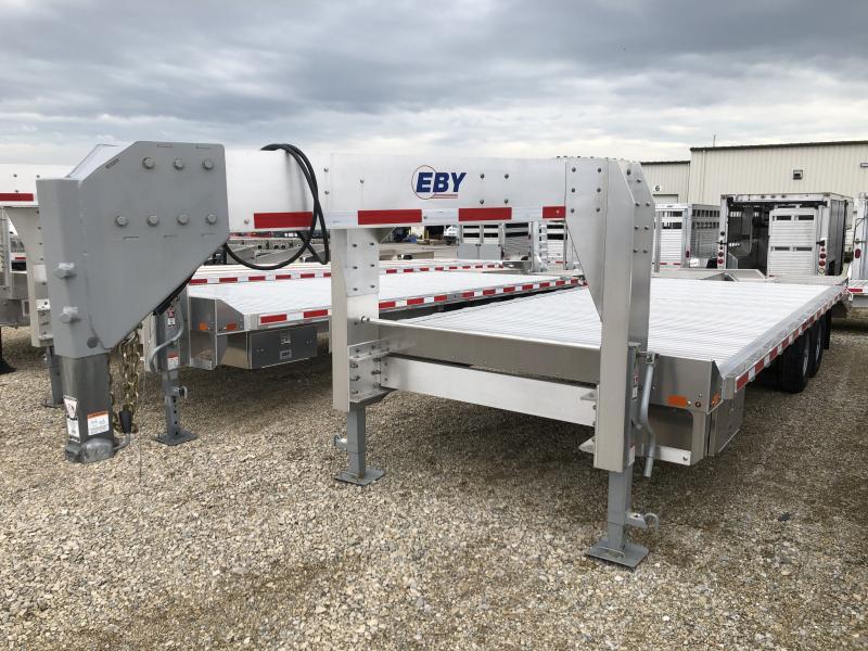 2018 EBY 24'x102 16K Flatbed Gooseneck