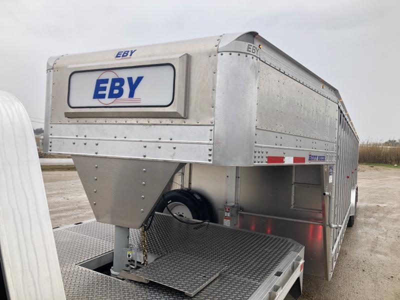 "2020 EBY Ruff Neck 32'x 8'x 6'6""- 3 Perm Gates (Located in TX)"