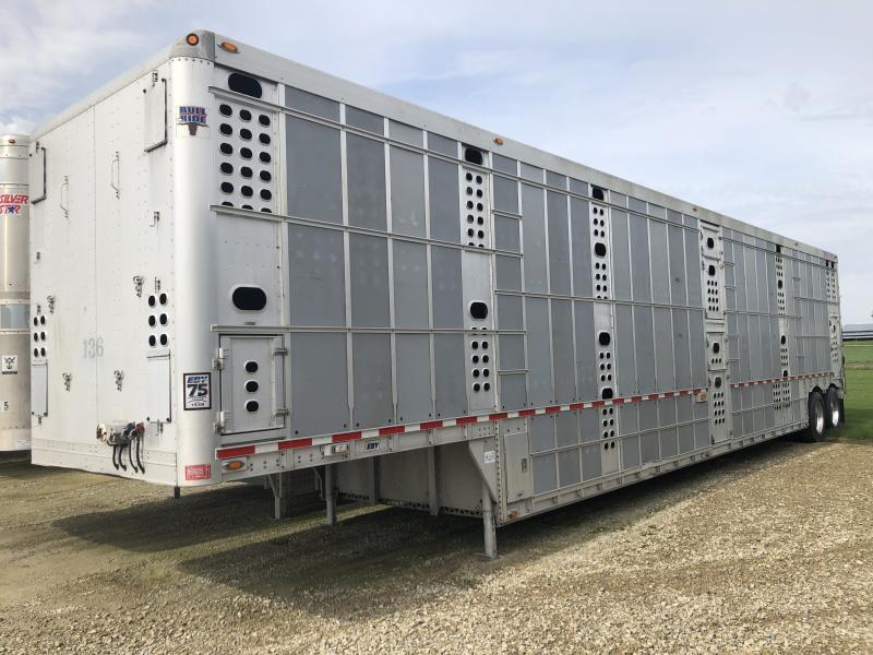 """2013 EBY 53'x102""""x13'6"""" Bull Ride Semi-Livestock Trailer"""