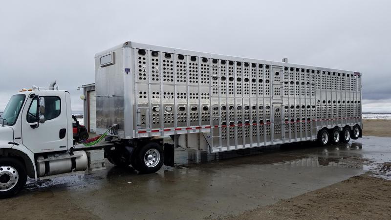 """2020 Eby 53' x 102"""" x 14'  Bull Ride D-D-D-S Quad Axle w/ Rear Lift Disc Brakes PPA  Pot Livestock-Semi"""