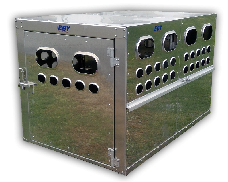 "EBY EBY Livestock Box 6'L x 4'W x 46""H - Bright Finish  Livestock-Box in SD"