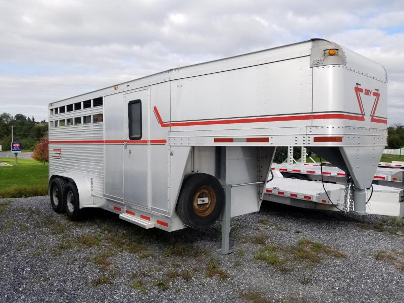 "1996 Eby 17' x 6'11"" x 7' GN 3 Horse Stock Combo"