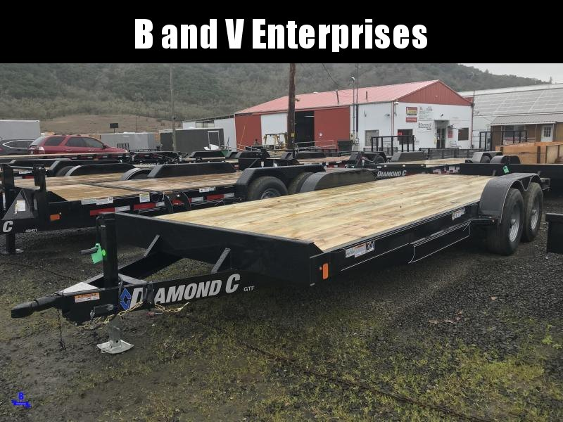 2019 Diamond C Trailers GTF252 20X82 Flatbed Car / Racing Trailer K1210731