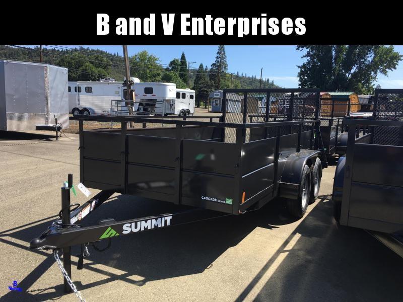 2020 Summit Cascade  6x12 Utility Trailer SOLID SIDES
