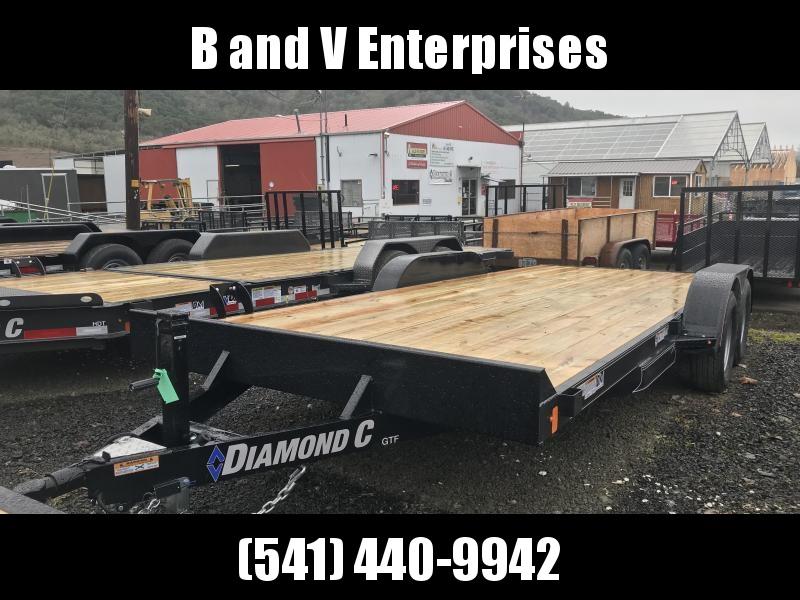 2019 Diamond C Trailers GTF252 18X82 Flatbed Car / Racing Trailer K1310729