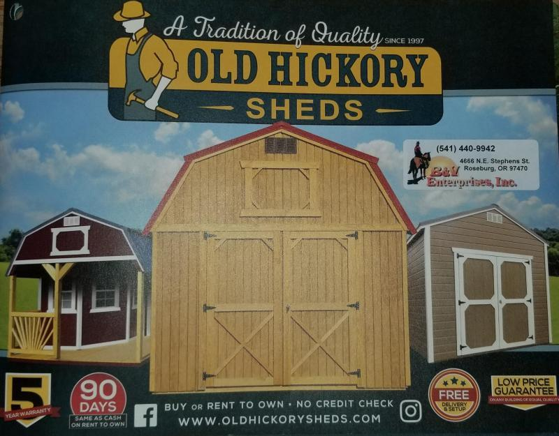2018 Old Hickory WUT 8 X 12 UTILITY SHED