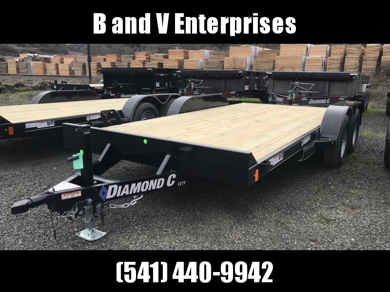 2019 Diamond C Trailers GTF235 18X83 Flatbed Car / Racing Trailer K1310730