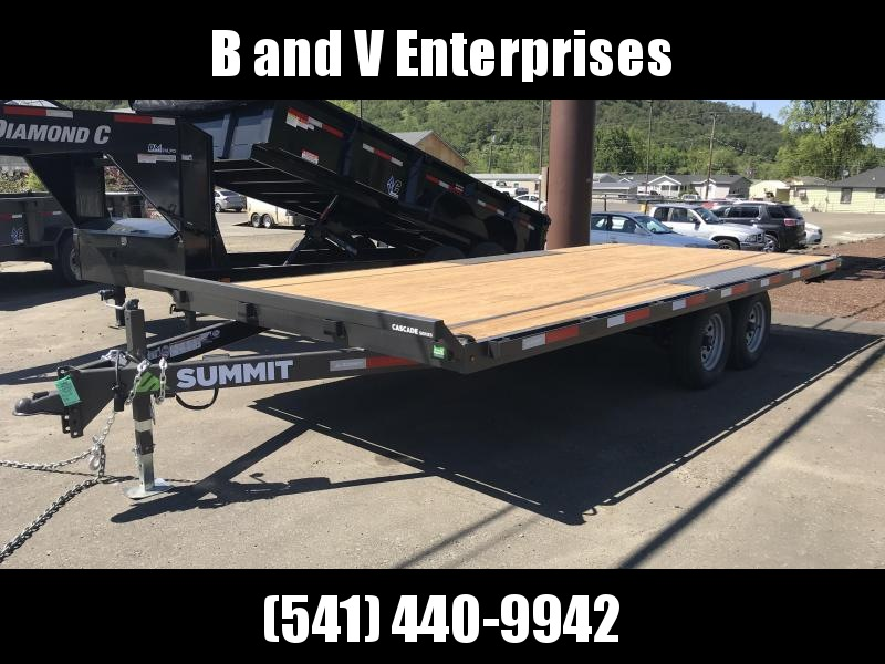 2019 Summit A8518TA2 Flatbed Trailer