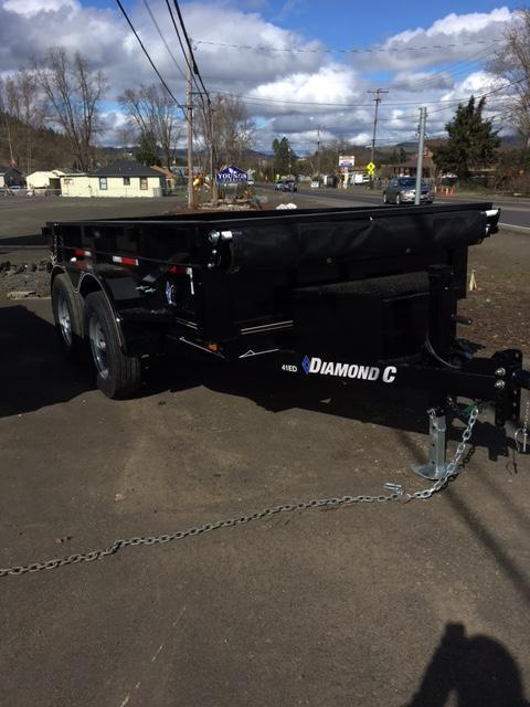 2018 Diamond C Trailers 41ED 77X10 Spread gate GRAY Dump Trailer