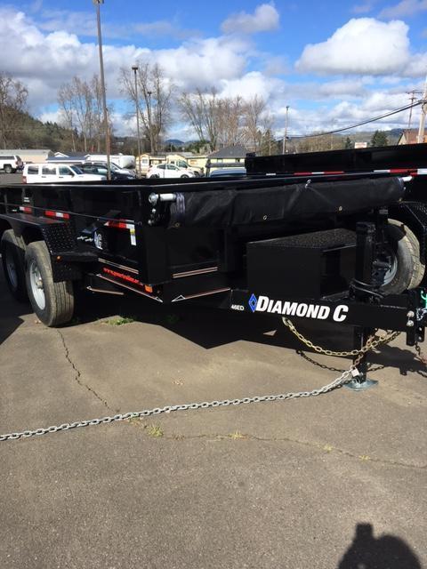 2018 Diamond C Trailers 46ED 77X12 Spread gate Dump Trailer