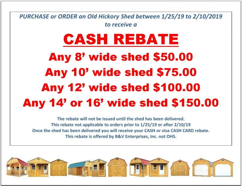 2018 Old Hickory WSUT 8 X 12 UTILITY SHED T4094