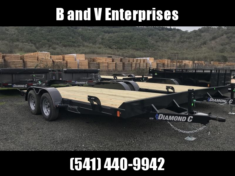 2019 Diamond C Trailers GTF235 16X83 Flatbed Car / Racing Trailer K1210734