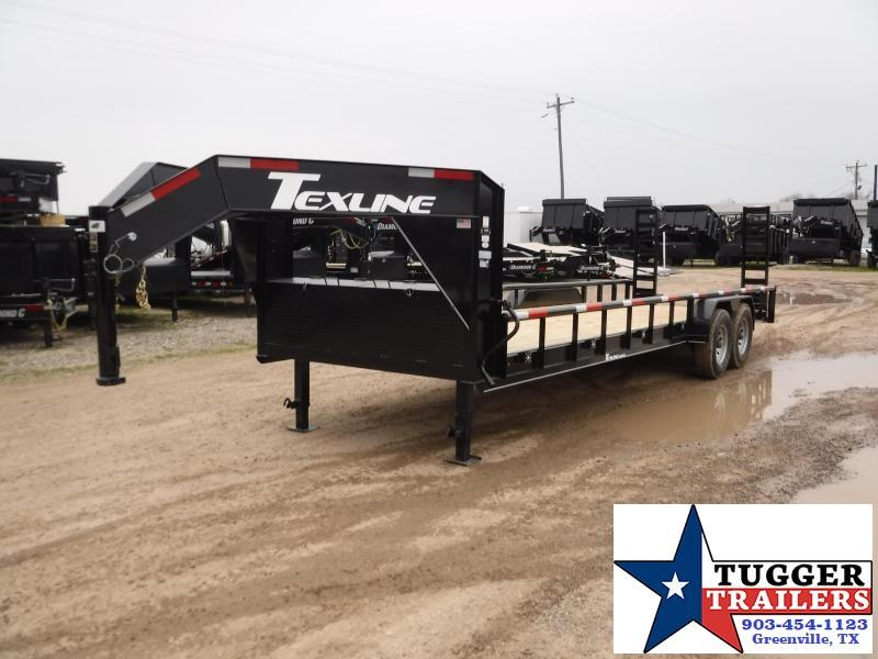 2019 TexLine 83x24 24ft Open Gooseneck Flatbed Trailer