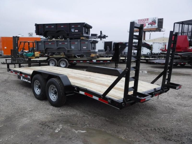 2019 TexLine 83x20 20ft Dovetail Flatbed Utility Equipment Trailer