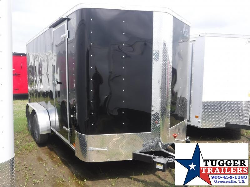 2019 Cargo Craft 7X14 14FT Black Ramp Enclosed Cargo Tandem Axle Trailer