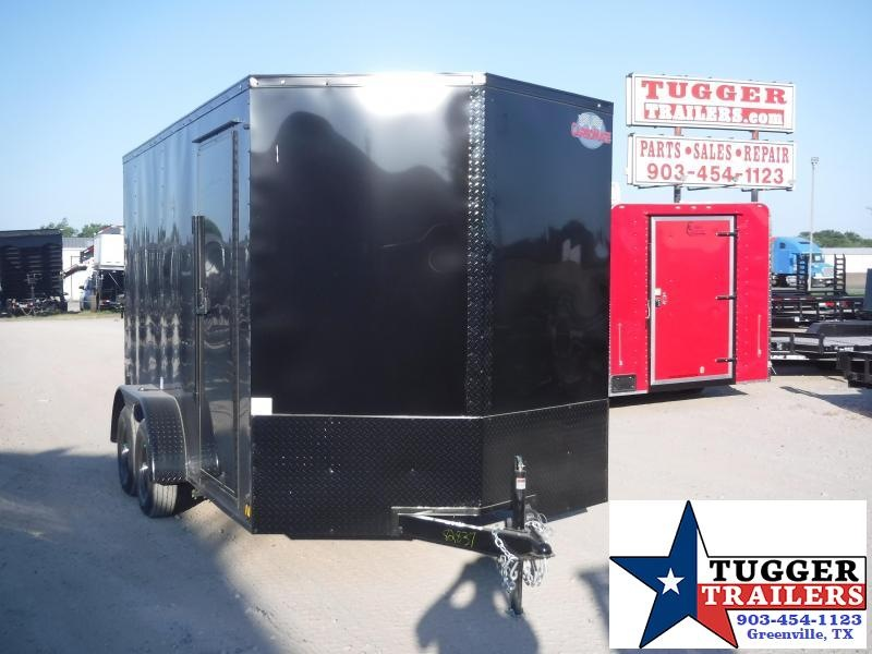 2020 Cargo Mate 7x14 14ft LE TA Blackout Ramp Enclosed Cargo Trailer