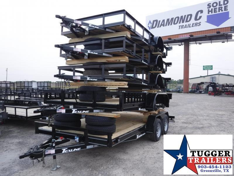 2019 TexLine 77x12 12ft Flatbed Utility Trailer