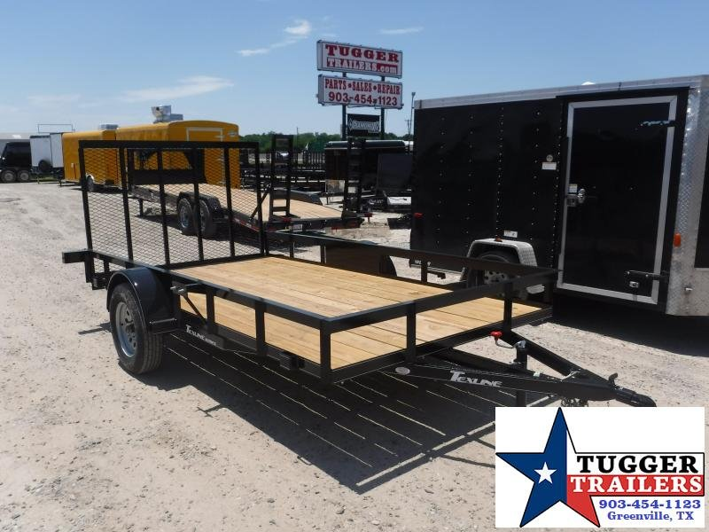 2019 TexLine 77x12 12ft Flatbed Utility Trailer