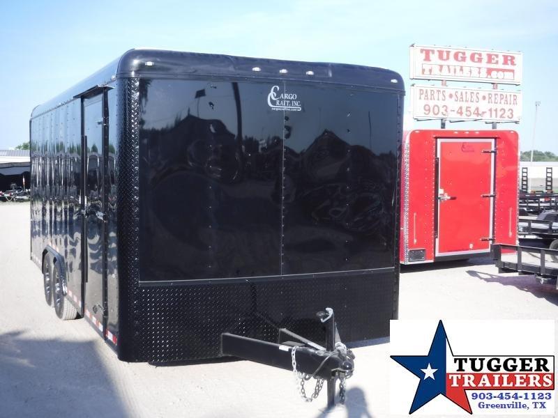 2019 Cargo Craft 8.5x20 20ft Blackout Enclosed Cargo Auto Mobile Car / Racing Trailer