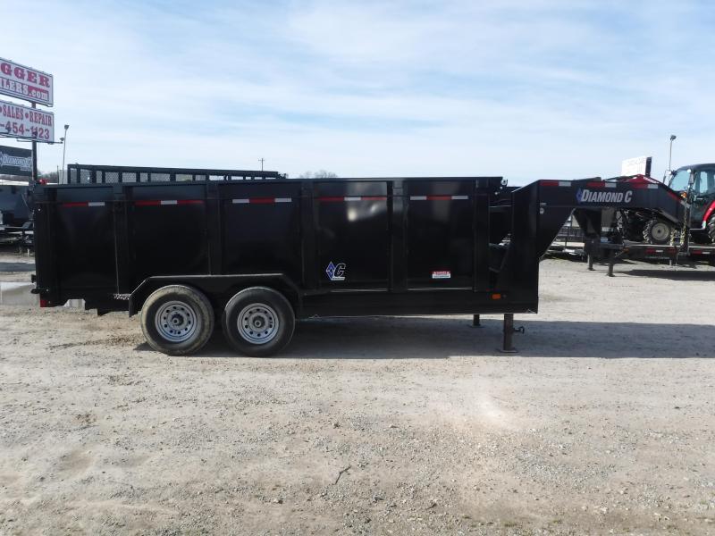 2019 Diamond C Trailers 82 x 14 14ft Gooseneck Dump Dump Trailer