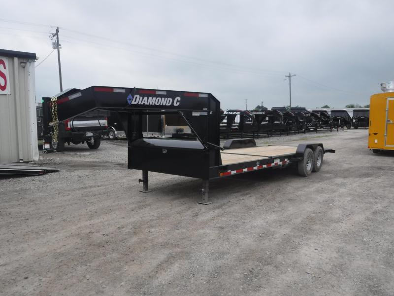 2019 Diamond C Trailers 82x24 24ft Gooseneck Utility Equipment Flatbed Trailer