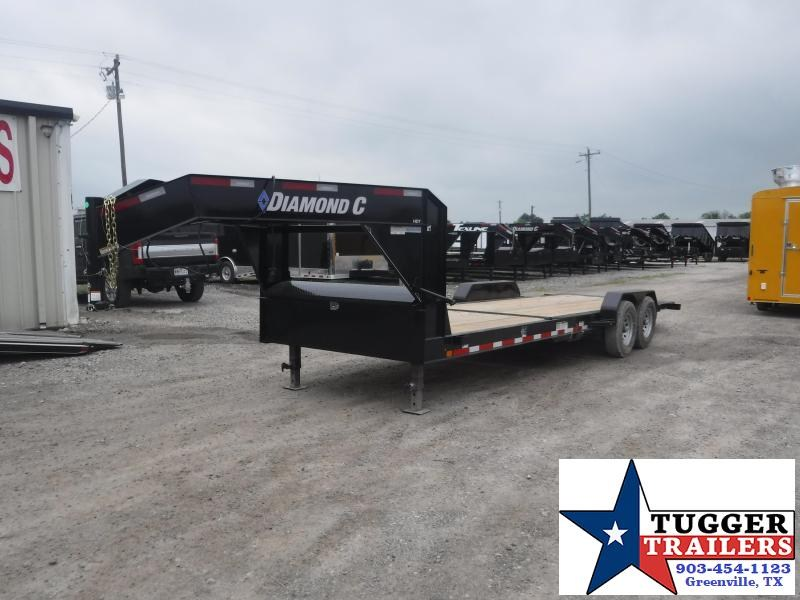 2019 Diamond C Trailers 82x24 24ft Open Gooseneck Utility Equipment Flatbed Trailer