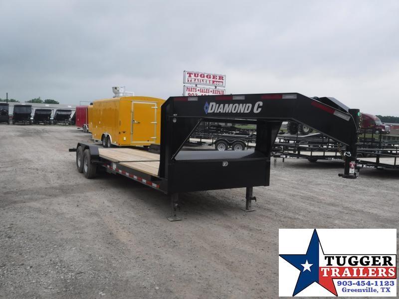 2019 Diamond C Trailers 82x24 24ft Open Gooseneck Utility Equipment Flatbed Trailer