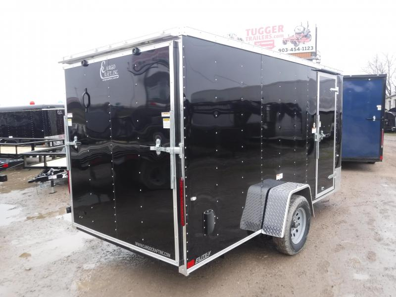 2019 Cargo Craft 6x12 Elite Plus 2 V-Nose Auto Mobile Car Hauler Enclosed Cargo Trailer