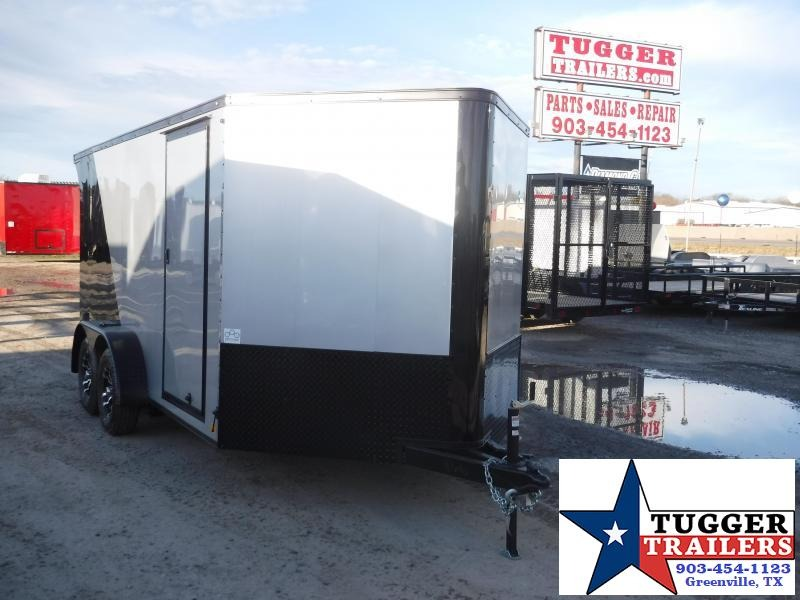 2019 Cargo Mate 7x14 14ft Blazer Black Out Enclosed Cargo Motorcycle Trailer