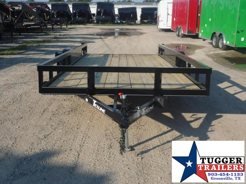 2019 TexLine 83x18 18ft Flatbed Ramp Utility Trailer