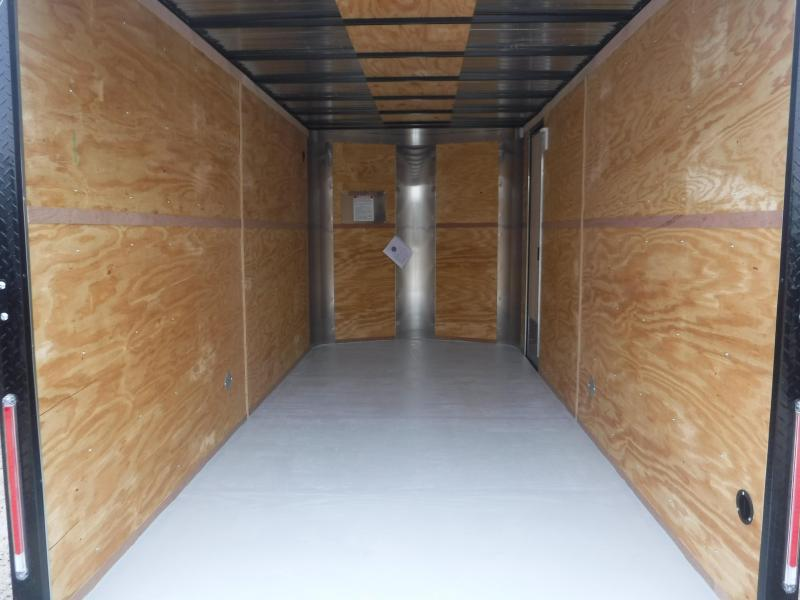 2019 Cargo Craft 7x16 16ft Blue with Black Out Plus 2' V-Nose Enclosed Cargo Trailer