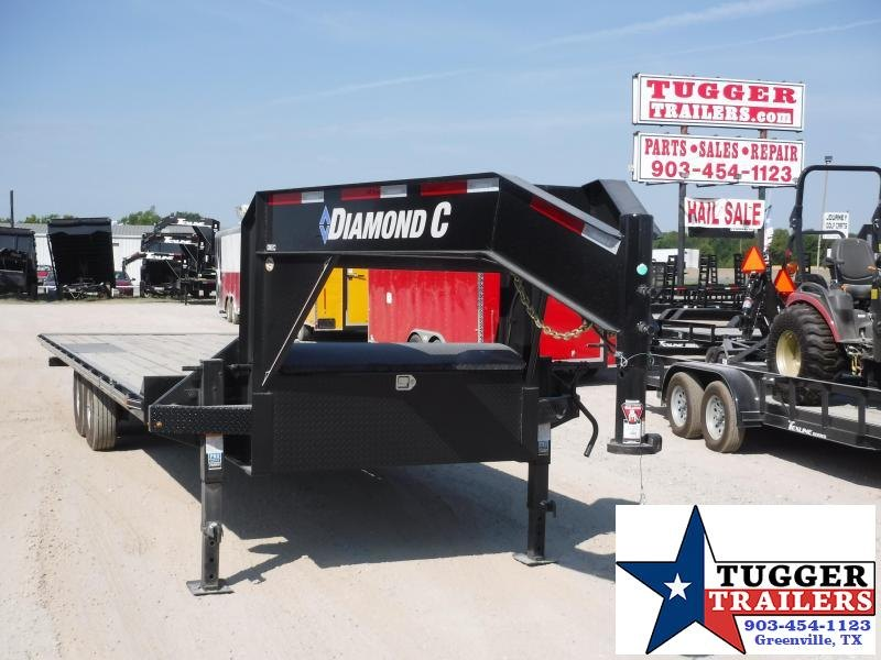 2019 Diamond C Trailers 102x26 26ft Open Gooseneck DEC102 Utility Flatbed Trailer