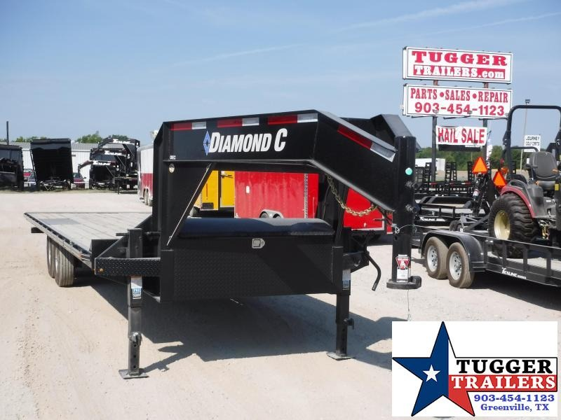 2019 Diamond C Trailers 102x26 26ft Open Gooseneck DEC102 Utility Flatbed Trailer