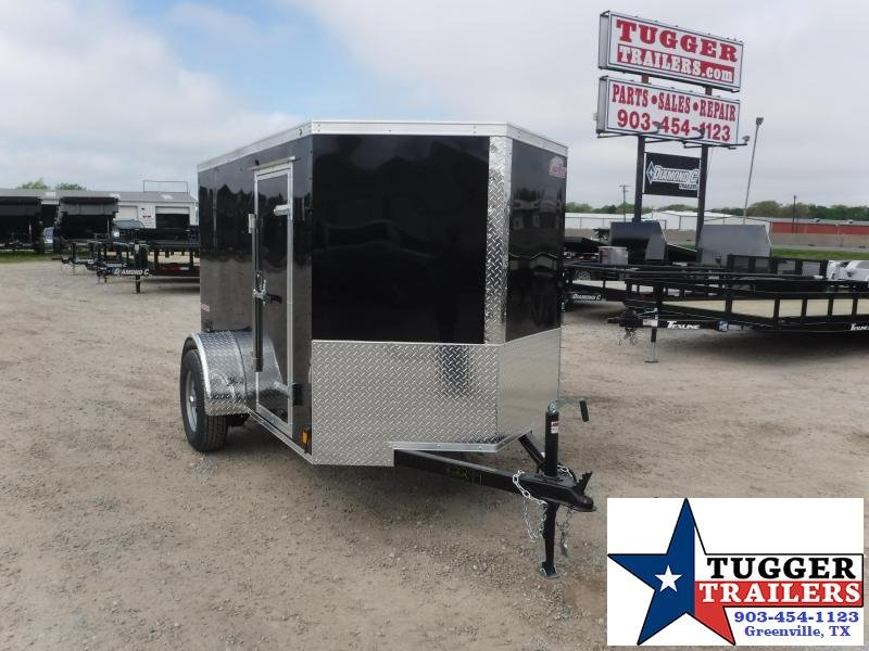 2020 Cargo Mate 5X8 8ft Double Door Black Single Axle Enclosed Cargo Trailer