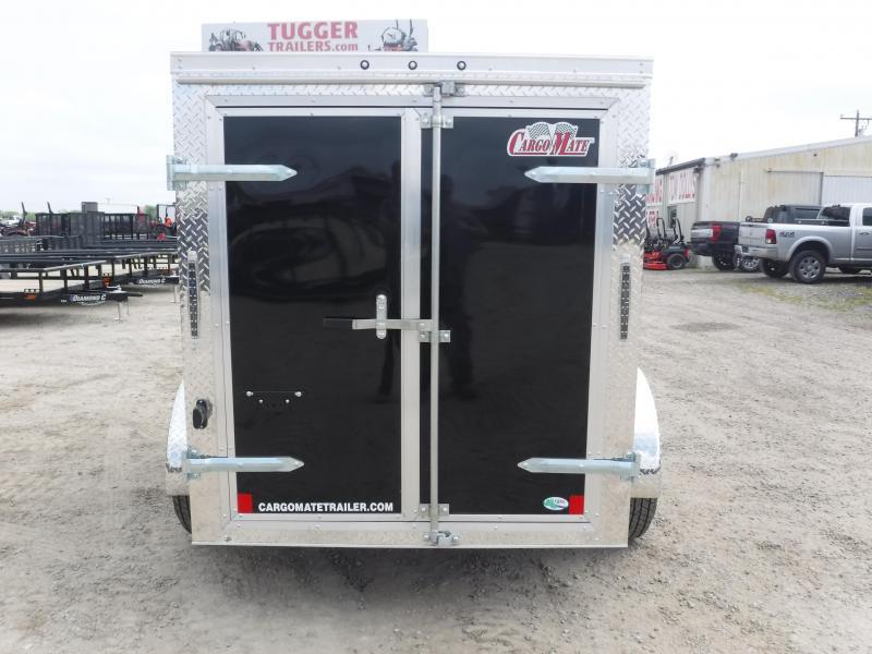 2020 Cargo Mate 5X8 8ft Double Door Black Single Axle Enclosed Cargo Trailer