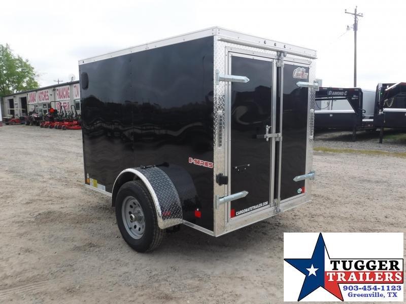 2020 HAIL SALE! Cargo Mate 5X8 8ft Double Door Black Single Axle Enclosed Cargo Trailer