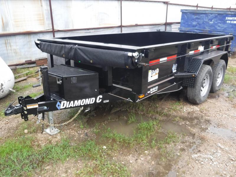 2019 Diamond C Trailers 77x12 12ft Black 2019 EDM252L Dump Trailer