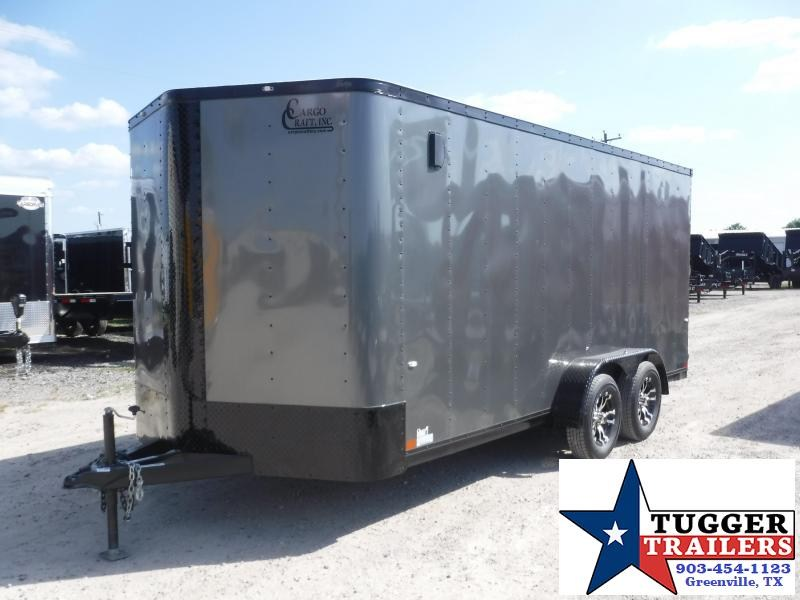 2019 Cargo Craft 7x16 16ft Blackout Ramp Enclosed Cargo Tandem Axle Trailer