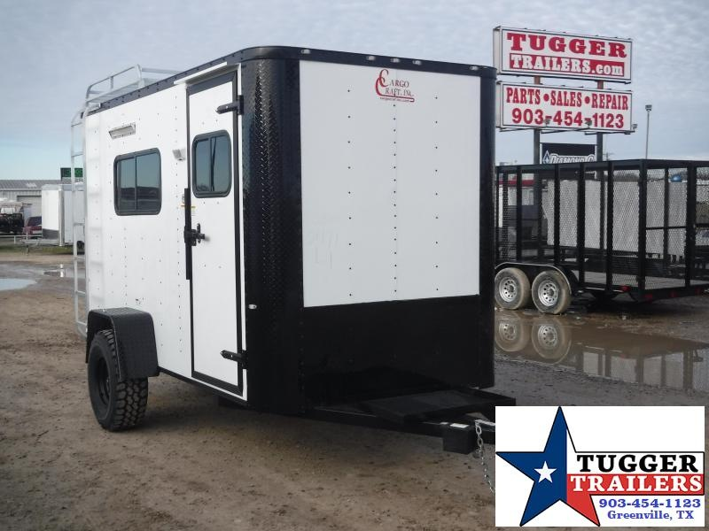 2019 Cargo Craft 6x12 12ft Jeep Flat Front Black Out Package Enclosed Cargo Trailer