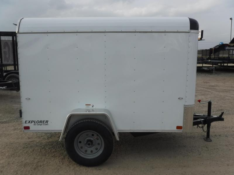 2019 Cargo Craft 5x8 8ft Explorer White 2019 Enclosed Cargo Trailer