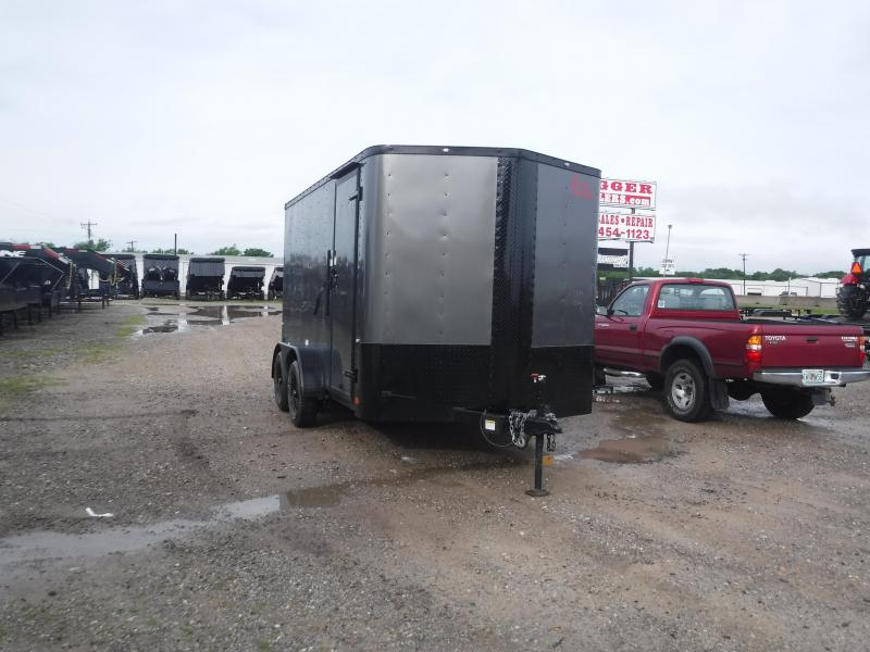 2019 Cargo Craft 7x12 12ft Black Out Ramp Enclosed Cargo Trailer